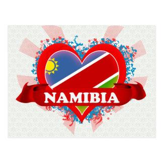 Vintage I Love Namibia Postcard
