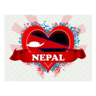 Vintage I Love Nepal Post Card