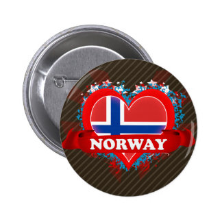 Vintage I Love Norway Buttons