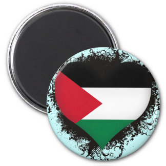 Vintage I Love Palestine Magnet