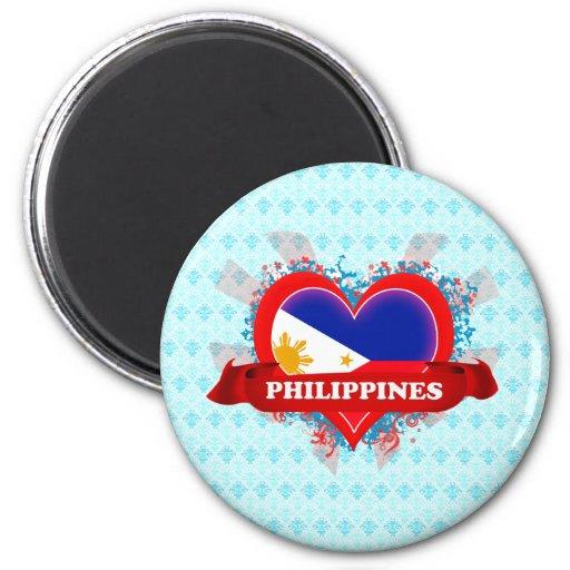 Vintage I Love Philippines Magnets