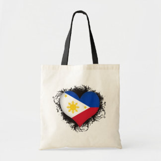 Vintage I Love Philippines Budget Tote Bag