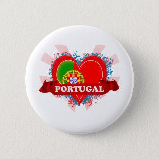 Vintage I Love Portugal 6 Cm Round Badge