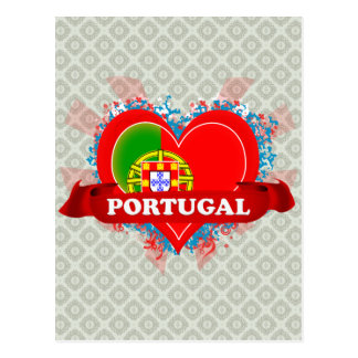 Vintage I Love Portugal Postcard