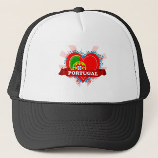 Vintage I Love Portugal Trucker Hat