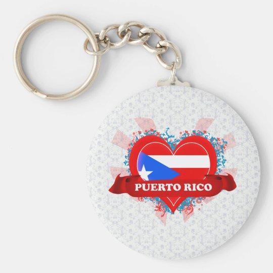 Vintage I Love Puerto Rico Key Ring
