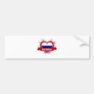 Vintage I Love Russia Bumper Sticker