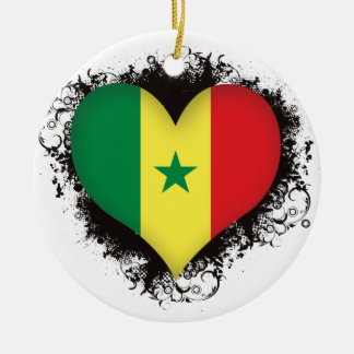 Vintage I Love Senegal Christmas Ornament