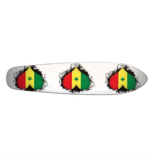 Vintage I Love Senegal Skateboard Deck
