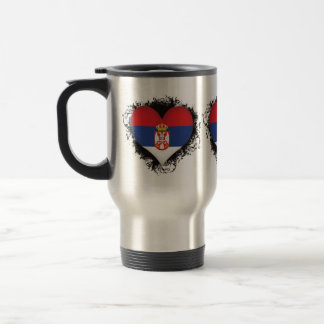 Vintage I Love Serbia Travel Mug