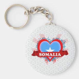 Vintage I Love Somalia Basic Round Button Key Ring