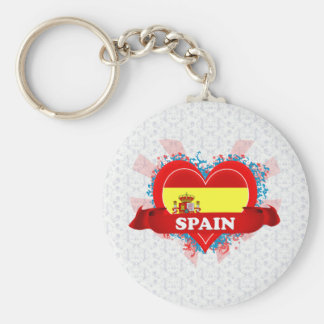 Vintage I Love Spain Key Ring