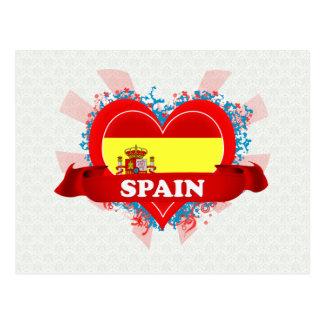 Vintage I Love Spain Postcard