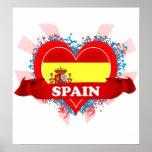 Vintage I Love Spain Poster