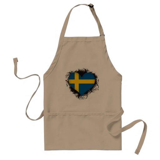 Vintage I Love Sweden Aprons