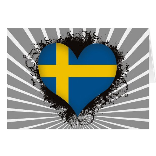 Vintage I Love Sweden Greeting Card