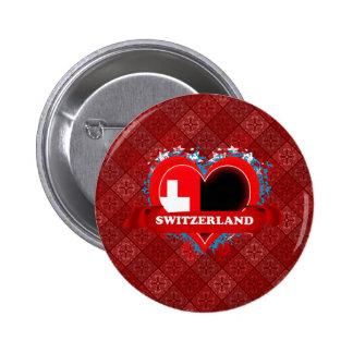 Vintage I Love Switzerland 6 Cm Round Badge