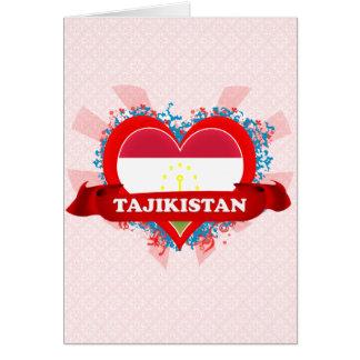 Vintage I Love Tajikistan Card