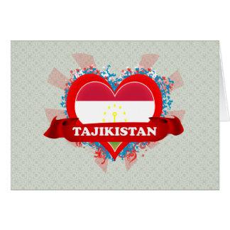 Vintage I Love Tajikistan Greeting Card