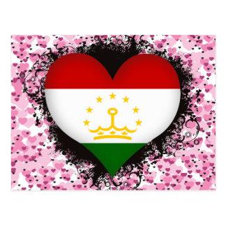Vintage I Love Tajikistan Postcard
