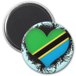 Vintage I Love Tanzania 6 Cm Round Magnet