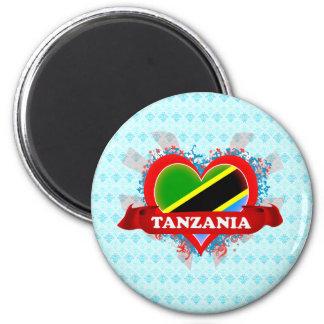 Vintage I Love Tanzania Magnets