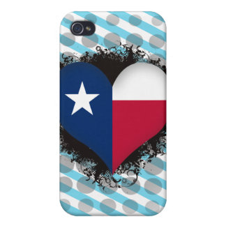 Vintage I Love Texas iPhone 4 Cover