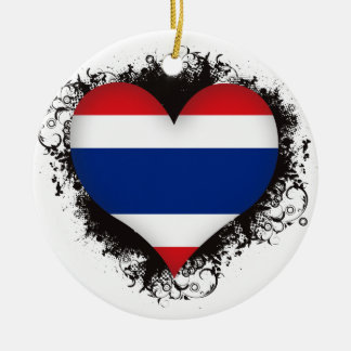 Vintage I Love Thailand Christmas Ornament