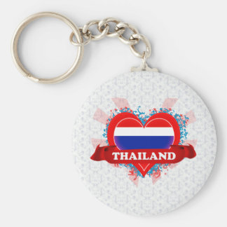 Vintage I Love Thailand Key Ring