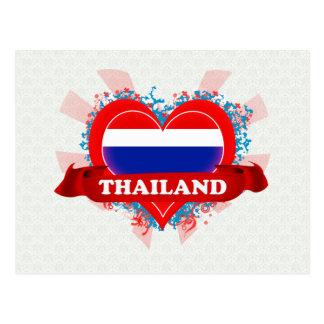 Vintage I Love Thailand Post Cards