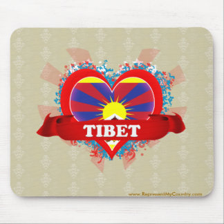 Vintage I Love Tibet Mouse Pad