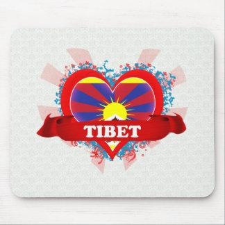 Vintage I Love Tibet Mouse Pad