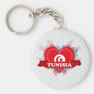 Vintage I Love Tunisia Key Ring