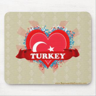 Vintage I Love Turkey Mouse Pad