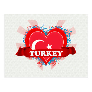 Vintage I Love Turkey Post Card
