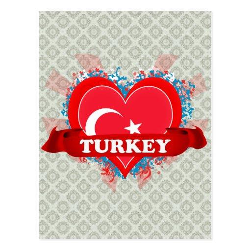 Vintage I Love Turkey Postcard