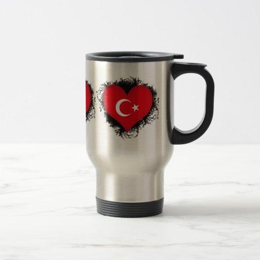 Vintage I Love Turkey Stainless Steel Travel Mug