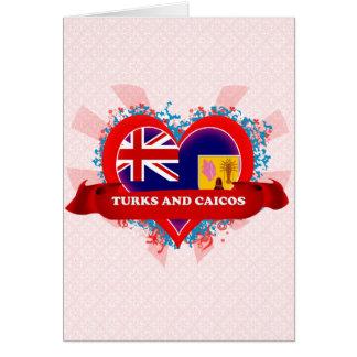 Vintage I Love Turks And Caicos Card