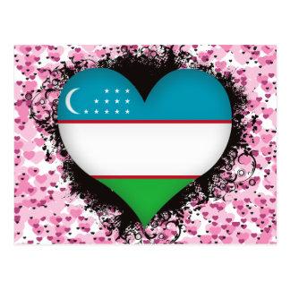 Vintage I Love Uzbekistan Postcard