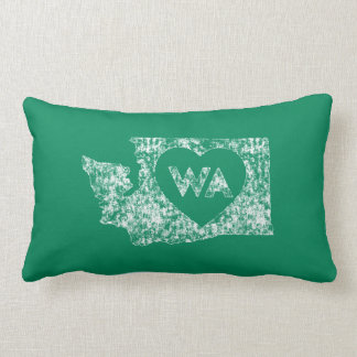 Vintage I Love Washington State Lumbar Pillow