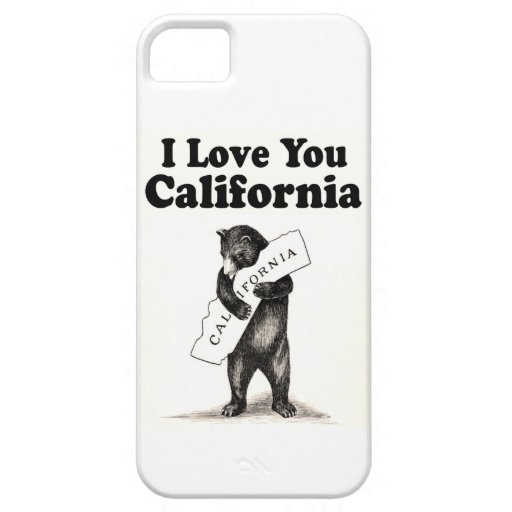 Vintage I Love You California iPhone 5/5S Cover