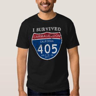 VINTAGE I Survived Carmageddon Tee Shirts