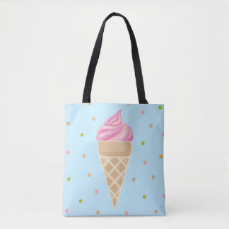 Vintage Ice Cream Illustration Tote Bag