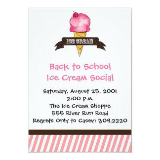 Vintage Ice Cream Invitation