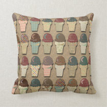 Vintage Ice Cream Pattern Cushion