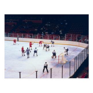 Vintage Ice Hockey Match Postcard