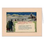 Vintage Icelandic Christmas Poem Greeting Card