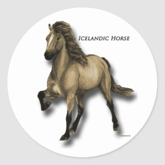 Vintage Icelandic Classic Round Sticker