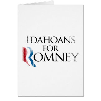 Vintage Idahoans for Romney -.png Greeting Card