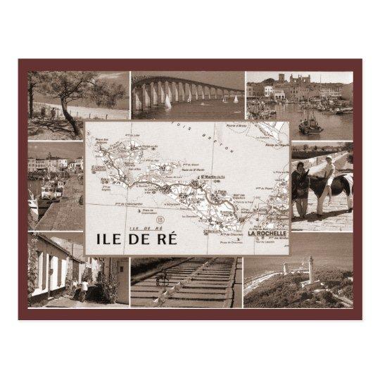 Vintage, Ile de Re Postcard